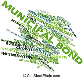 Municipal bond - Abstract word cloud for Municipal bond with...