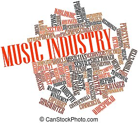 Abstract word cloud for Music industry with related tags and terms
