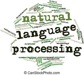 Natural language processing - Abstract word cloud for...
