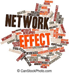Abstract word cloud for Network effect with related tags and terms