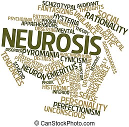 Neurosis - Abstract word cloud for Neurosis with related...