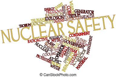 Nuclear safety - Abstract word cloud for Nuclear safety with...