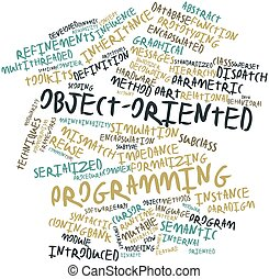 Object-oriented programming - Abstract word cloud for...