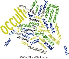 Abstract word cloud for Occult with related tags and terms
