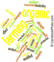 Organic farming - Abstract word cloud for Organic farming...