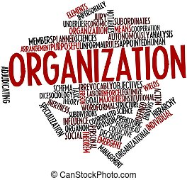 Organization - Abstract word cloud for Organization with...