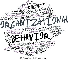 Organizational behavior - Abstract word cloud for...