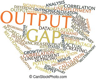 Abstract word cloud for Output gap with related tags and terms