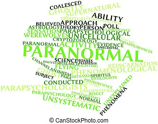 Paranormal - Abstract word cloud for Paranormal with related...