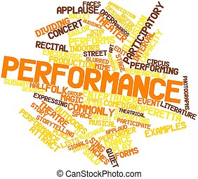 Abstract word cloud for Performance with related tags and terms