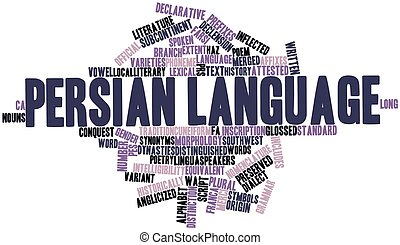 Persian language - Abstract word cloud for Persian language...