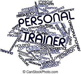 Abstract word cloud for Personal trainer with related tags and terms
