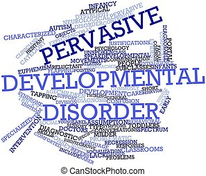 Pervasive developmental disorder - Abstract word cloud for ...