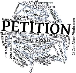 Petition - Abstract word cloud for Petition with related ...