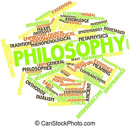 Philosophy - Abstract word cloud for Philosophy with related...