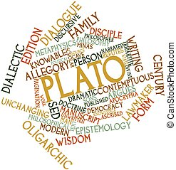 Plato - Abstract word cloud for Plato with related tags and...