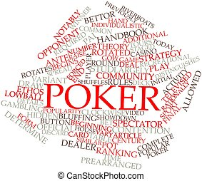 Poker - Abstract word cloud for Poker with related tags and...