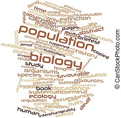 Population biology - Abstract word cloud for Population...