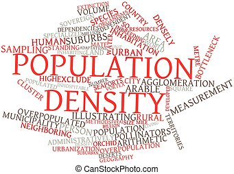 Population density - Abstract word cloud for Population...