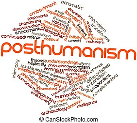 Posthumanism - Abstract word cloud for Posthumanism with...