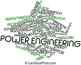 Power engineering - Abstract word cloud for Power...