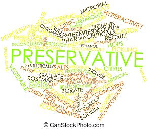 Abstract word cloud for Preservative with related tags and terms