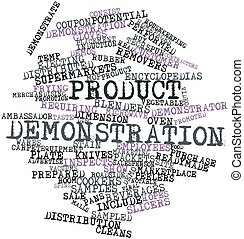 Product demonstration - Abstract word cloud for Product ...