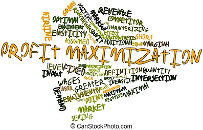 Profit maximization - Abstract word cloud for Profit...