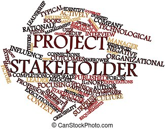 Project stakeholder - Abstract word cloud for Project...