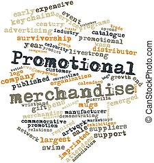 Abstract word cloud for Promotional merchandise with related tags and terms