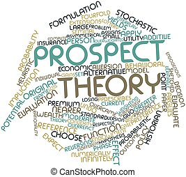 Prospect theory - Abstract word cloud for Prospect theory...