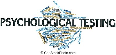 Psychological testing - Abstract word cloud for...