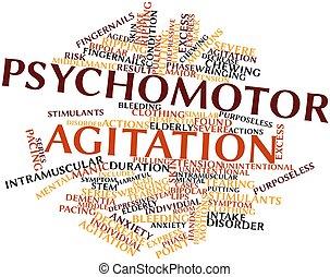 ... Psychomotor agitation - Abstract word cloud for Psychomotor.