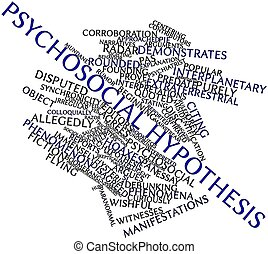 Psychosocial hypothesis - Abstract word cloud for...