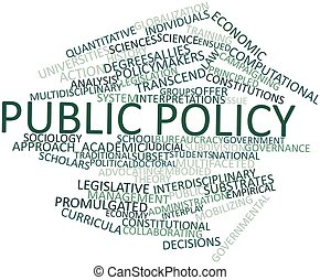 Abstract word cloud for Public policy with related tags and terms