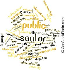 Public sector - Abstract word cloud for Public sector with...