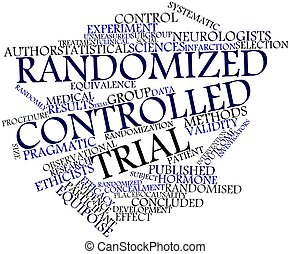Abstract word cloud for Randomized controlled trial with related tags and terms