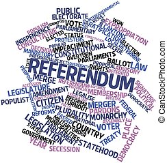 Referendum - Abstract word cloud for Referendum with related...