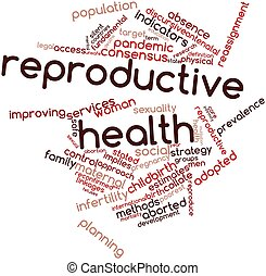 Reproductive health - Abstract word cloud for Reproductive...