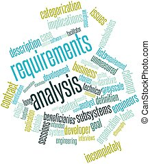 Requirements analysis - Abstract word cloud for Requirements...