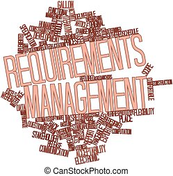 Requirements management - Abstract word cloud for...
