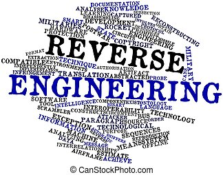 Reverse engineering - Abstract word cloud for Reverse ...