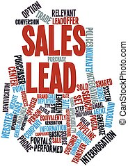Sales lead - Abstract word cloud for Sales lead with related...