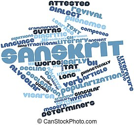 Sanskrit - Abstract word cloud for Sanskrit with related ...