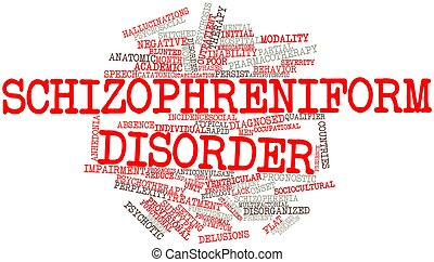 Schizophreniform disorder - Abstract word cloud for...