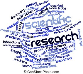 Scientific research - Abstract word cloud for Scientific...