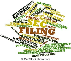 SEC filing - Abstract word cloud for SEC filing with related...