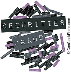 Abstract word cloud for Securities fraud with related tags and terms