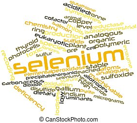 Abstract word cloud for Selenium with related tags and terms