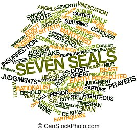 Seven seals - Abstract word cloud for Seven seals with...